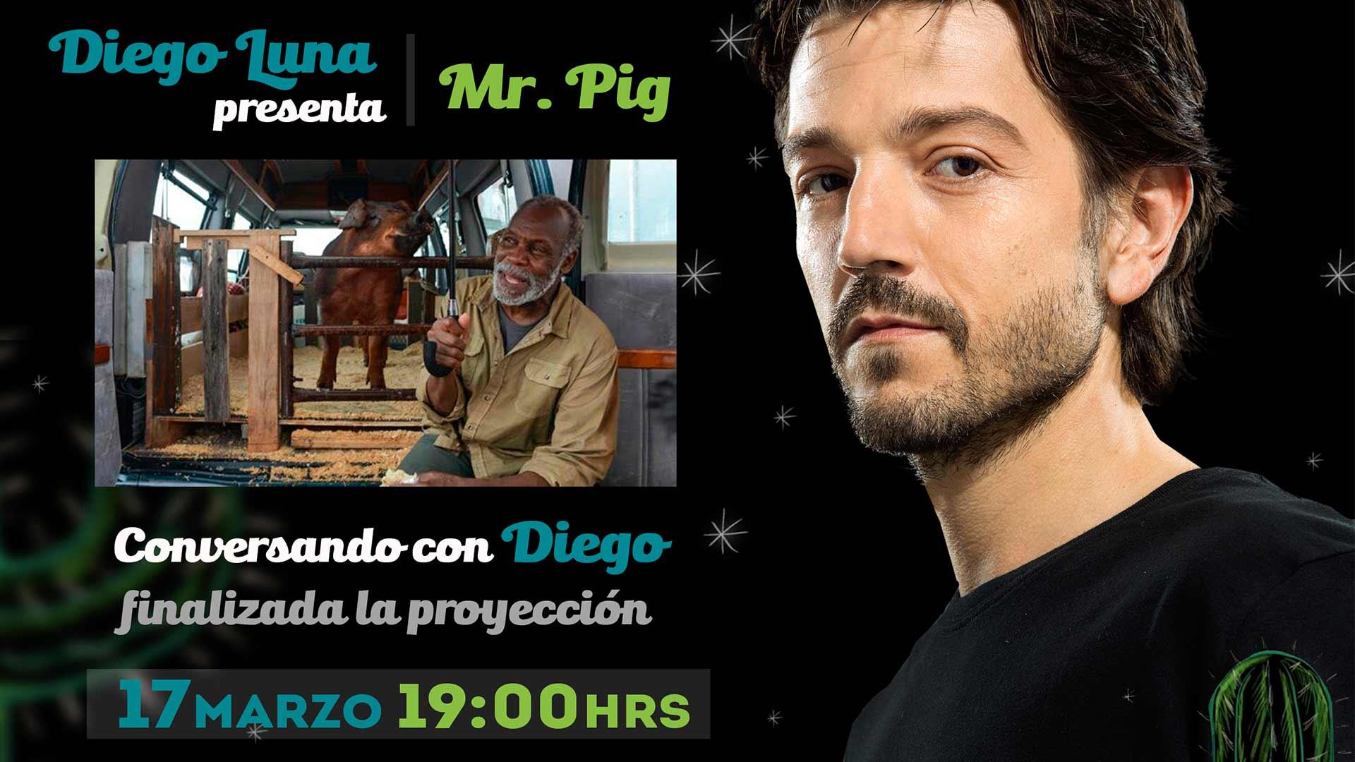 Diego Luna presenta en exclusiva Mr. Pig en el Festival de Cine Todos Santos - La Paz 2016